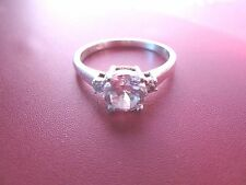 925 STERLING SILVER RING COCKTAIL CZ SIZE 10