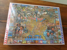 """1994 White Mountain Puzzels The Civil War 1000 Pc. 24"""" x 30"""" Jigsaw Puzzle (NEW)"""