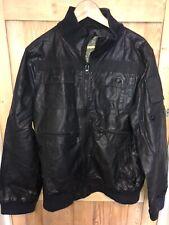 Gio Goi Bomber Jacket Coat XL Black Fantastic Quality Designer Casual Z1