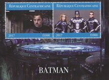 BATMAN MOVIES BEN AFFLECK GEORGE CLOONEY CENTRAFRICAINE 2017 MNH STAMP SHEETLET