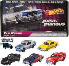 Hot Wheels Premium 2020 Fast & Furious Fast Rewind E Case Box Set of 5 Cars