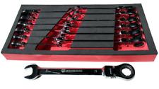 Britool Hallmark 13 Piece Flexible Ratchet Combination Spanner Set 8 – 21mm