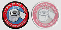 TP90 I SURVIVED THE GREAT TOILET PAPER CRISIS 2020 - 2 PATCH SET  IRON ON - MASK