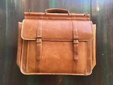 Wilson's Leather Vintage Messenger Shoulder Bag Briefcase Naturally Distressed