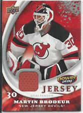 Martin Brodeur 2008-09 Upper Deck Power Play Jerseys Card #PP-MB