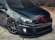 GLOSS BLACK+RED FRONT GRILL EMBLEM BADGE MK6 GTI R TSI TDI SPORTWAGEN 2010- 2014