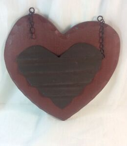 """""""TIN HEART"""" Replacement Resin Sign for K & K Interior Country Arrow Holders"""