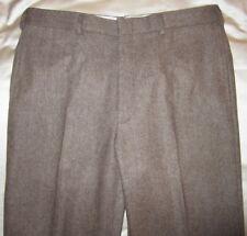 "POLO RALPH LAUREN BLUE LABEL Wool/Cashmere Flannel Herringbone Pants SZ 36"""