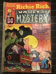 Richie Rich Vault Of Mystery #2 Comic 1974 Silver Age Bronze No CGC