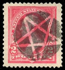 momen: US Stamps #250 Used Fancy Star SUPERB JUMBO App.