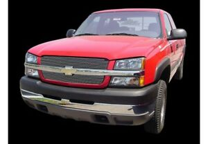 Carriage Works 41832 Polished Aluminum Billet Grille 03-06 Chevy Silverado HD