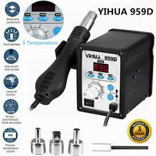 YIHUA 959D Digital Display Hot Air Gun Soldering Iron Station Repair Desoldering