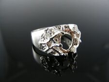 4671  RING SETTING STERLING SILVER, SIZE 8.75, 9X7 MM OVAL STONE