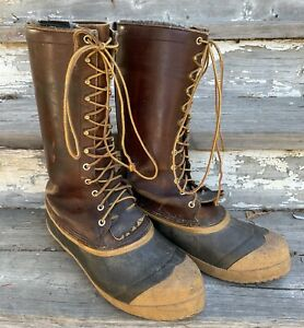 Whites Boots Men's Cowboy 14-Inch Pac Loggers Hunting Boots Size 9 10