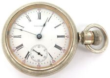 1907 LARGE WALTHAM 18S 17J HINGED MOVEMENT MENS POCKET WATCH. A FIXER.