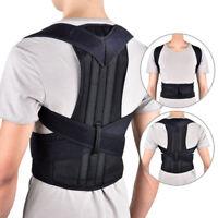 Adult Corset Back Posture Corrector Shoulder Lumbar Brace Spine Support Belt Men