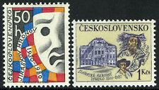 Czechoslovakia 2301-2302,MNH.Slovak National Theater, Bratislava, 60th ann. 1980