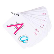 26 Letter Flashcards Flash Cards Baby Kids Learn Abc Alphabet Flash Card Oo