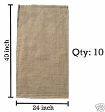 (10) 24 x 40 Burlap Bags Wholesale Bulk - Sacks Potato Race Sandbags Home Depot
