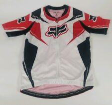 Fox Racing Cycling Bike Jersey Red Black white + Zip Men's Size-M