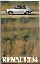 Renault 14 TL GTL LS TS 1980-81 Original UK Sales Brochure Pub. No. 20.104.07