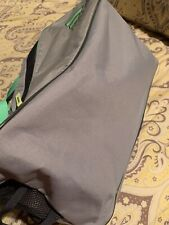 Adidas small workout bag. Grey/Mint Green. Excellent