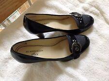 """Anne Klein Iflex Black Patent Leather Heels  """"AK Fairy"""" Size 6.5"""