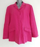 East Pink Women's % Linen Button Down Long Sleeve Blazer Jacket. UK Size 16.