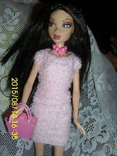 """MATTEL MY SCENE DOLL NOLEE  2 PC PINK """"TERRY"""" CLOTH SUIT   SHOES  PURSE"""
