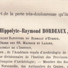 Jacques Hippolyte Raymond Bordeaux Evreux 1877 Erudit