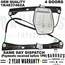 FOR VW GOLF MK5 V 03-09 FRONT RIGHT SIDE WINDOW REGULATOR 4/5 DOORS WITH PANEL