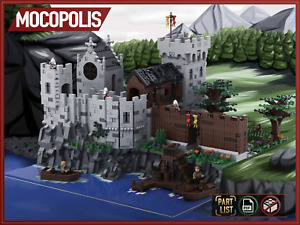 LEGO Moc Medieval Castle | PDF instructions (NO PARTS) Custom building