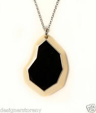 Ippolita Ivory Color Resin Geometric Pendant in Black Onyx Sterling Silver chain