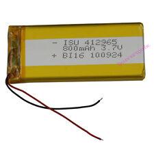 3.7V 800 mAh Polymer Li battery Lipo For Mp3 GPS Mp4 Mobiles phone Camera 412965