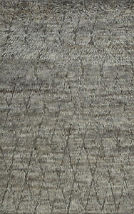 Moroccan Beni Ourain Rug, 5'x8', Grey, Hand-Knotted Wool Pile