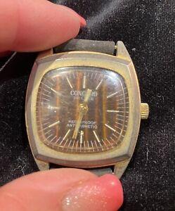 Ancienne   Concord de luxe montre  Watch VINTAGE  ENVOI INTERNATIONAL