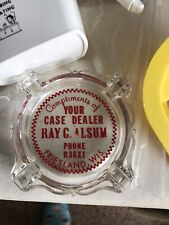 Vintage Case Farm Equipment Dealer Ash Tray Wisconsin Advertising