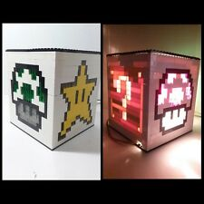 LEGO Nintendo Mario Brothers NES Lamp night light kids decor Gaming pixel art