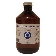 Distilled Water - 500ml - Pure Steam Distilled - 0ppm