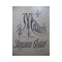 GODARD Benjamin 4e Mazurk op 103 Piano XIXe partition sheet music score