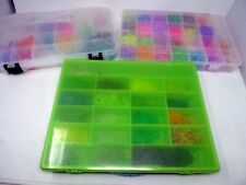 HUGE LOT Rainbow Loom SORTED Multi Colored Rubber Bands 3 Plastic Storage Cases