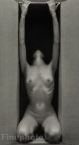 1962/86 RUTH BERNHARD Photo Lithograph Plate Iconic FEMALE BOX NUDE Limited Ed.