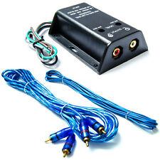 High-Low Level Converter-Lautsprecher auf Cinch mit 5m Cinch-Kabel