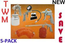 Air Kit 5-Pack TWM - Spray gun, tyre inflator, kero gun, blow gun, hose*********