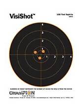 Champion VisiShot Sight In Target Use w/Small/Large Calibers 10/Pack 45804