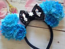 Couture Olaf Minnie Mouse ears Headband Frozen-Let it Go-Disneyland-Disney World