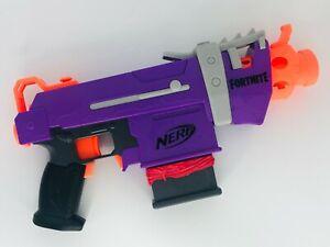 Nerf X Fortnite SMG-E Purple Submachine Gun Dart Gun Toy Play Tested & Working