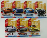 Hot Wheels 50th Anniversary Throwback Decades Cars Lot of 7 New