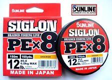 SUNLINE SIGLON PE Braid Line Pex8 150 Metres / Orange 12lb
