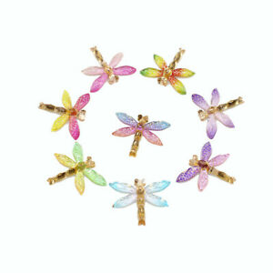 10 Assorted Resin Dragonfly Flatback Embellishment Winged Insect Decor 32*27mm